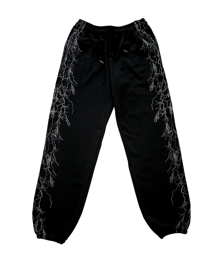 VEIN SWEAT PANTS_black