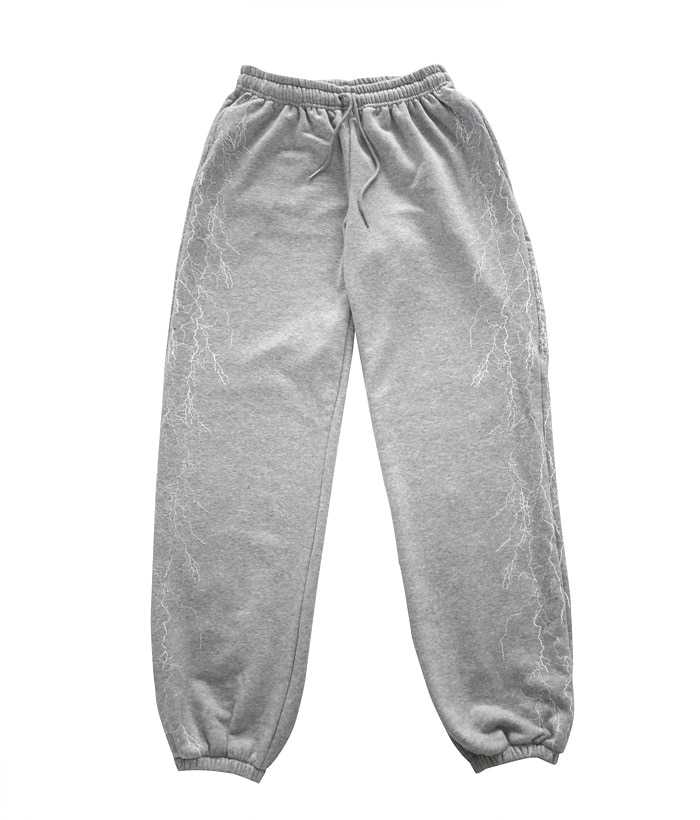 VEIN SWEAT PANTS_gray