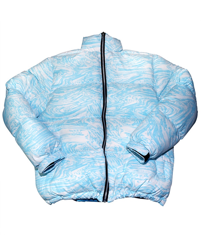 WAVY PADDED JACKET_blue